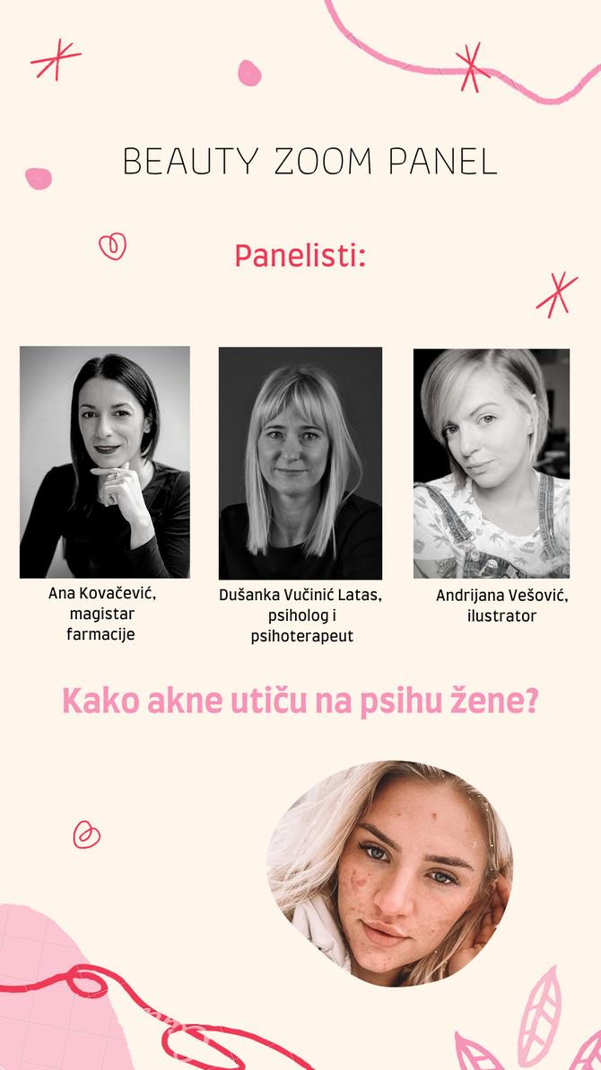 Na panelu ćemo pričati o tome kako akne utiču na žensku psihu