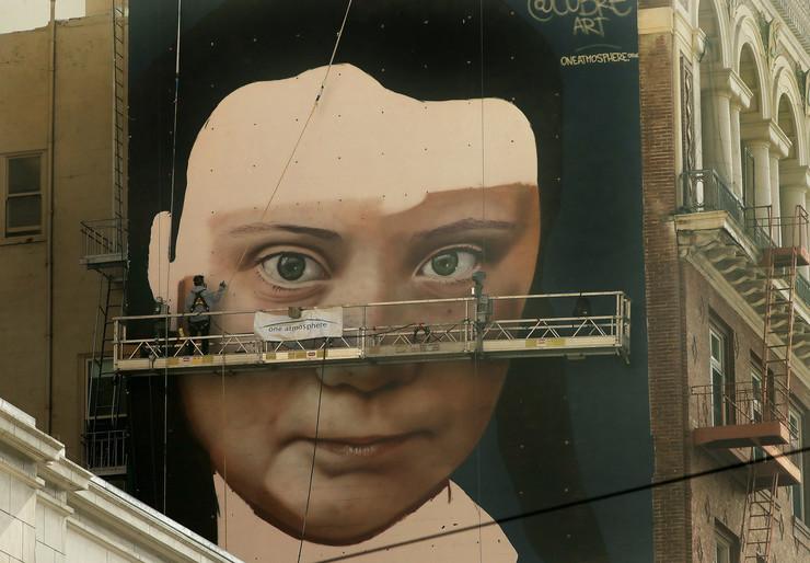 Greta Tunberg mural