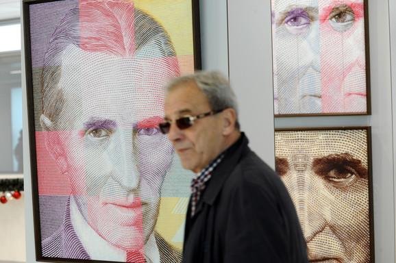 Tokom 90-ih Teslin lik krasio je mnoge novčanice