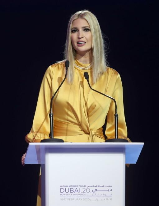 ... Kreacja, w której wystąpiła podczas Światowego Forum Kobiet w Dubaju, nie zyskała pozytywnych opinii...