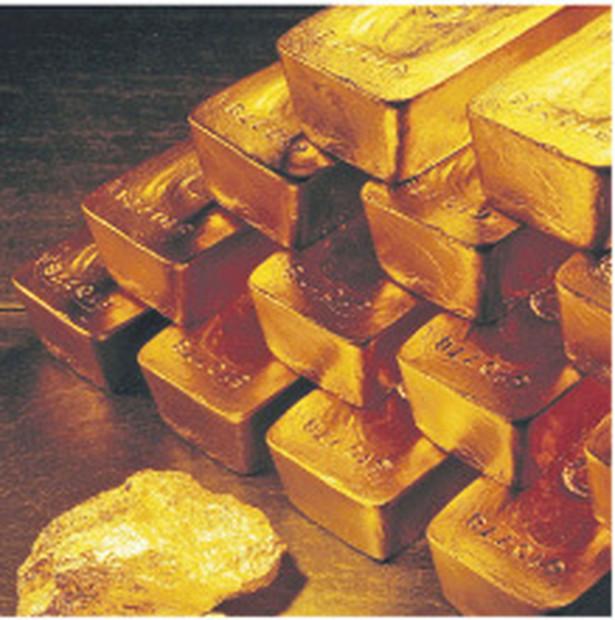 Najmniejsza, 5-gramowa sztabka zlota kosztowała wczoraj 840 zł, największa, o wadze 250 g – 34 845 zł. Fot. AP