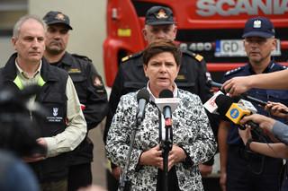 Premier: Do samorządów spływają środki na pomoc poszkodowanym w wyniku nawałnic