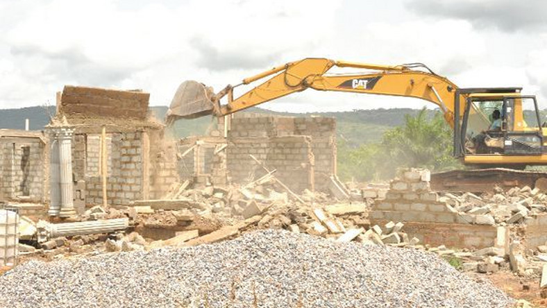 Danfa houses demolished