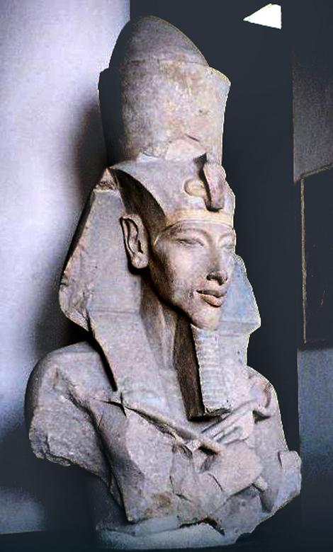 Pharaoh Ehnaton, formerly called Amenhotep IV