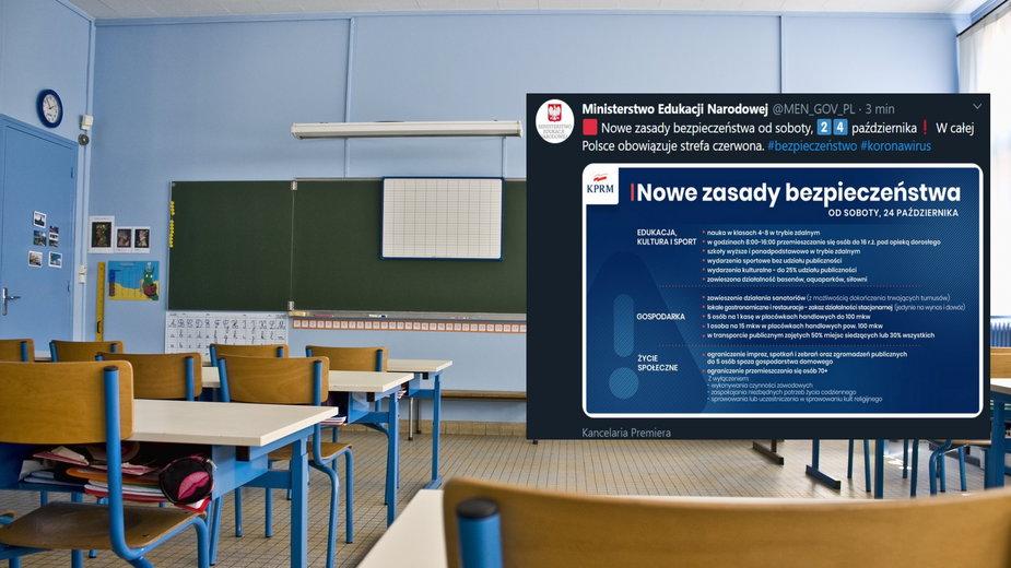 Rząd wprowadza nowe obostrzenia. Starsze klasy szkół podstawowych na zdalnym nauczaniu