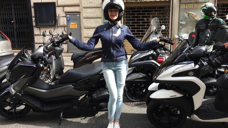 Anna Jackowska i skutery Yamaha