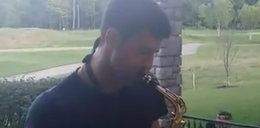 Gwiazdor tenisa pokazał nowy talent. Zamienił rakietę na saksofon!