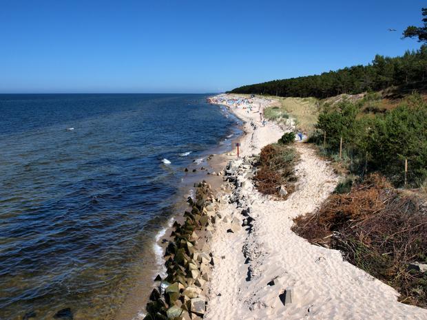 Urwana plaża w Mrzeżynie