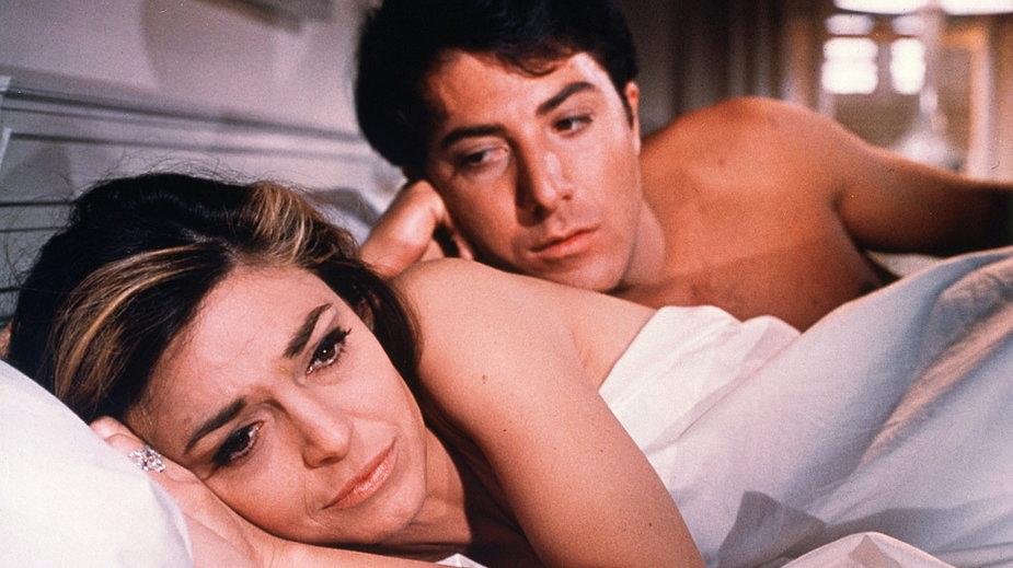 """Anne Bancroft i Dustin Hoffman w filmie """"Absolwent"""""""