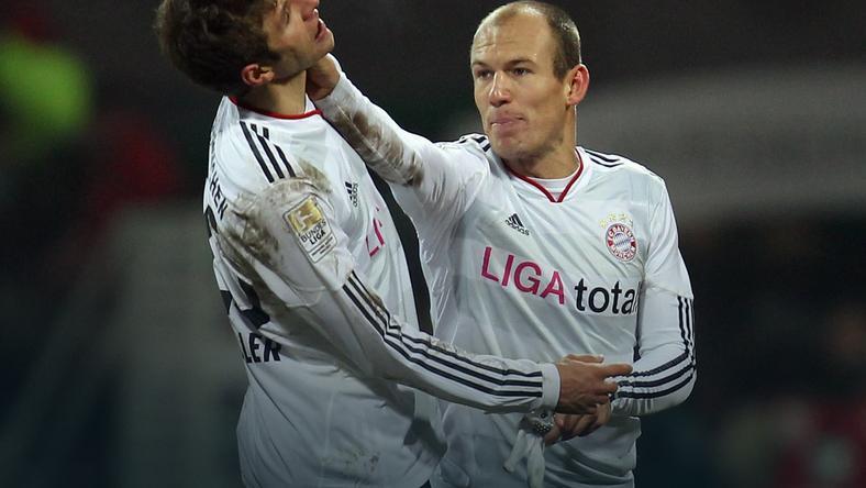Starcie Robben - Mueller