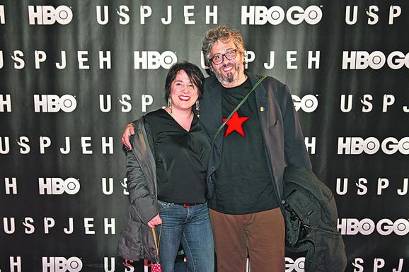 Scenarista Marjan Alčevsk sa suprugom