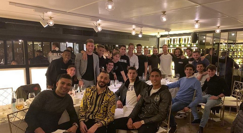 Real Madrid players bond with dinner in Madrid restaurant