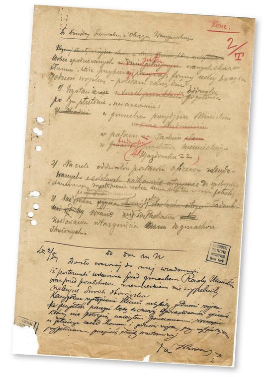 Rozkaz Józefa Piłsudskiego wygłoszony do żołnierzy w pierwszą rocznicę wymarszu z krakowskich Oleandrów