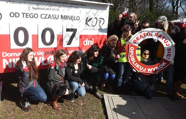 Protesty przed KPRM
