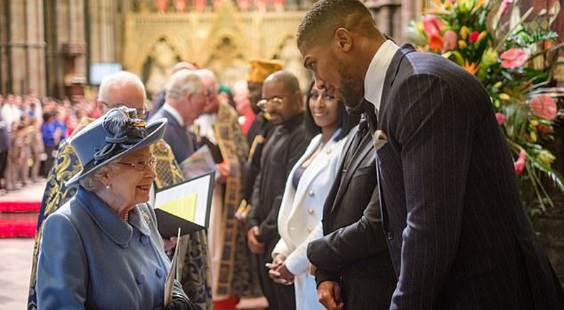 Anthony Joshua references Egusi soup and pounded yam while speaking about his Nigerian roots in a speech delivered before the Queen of England