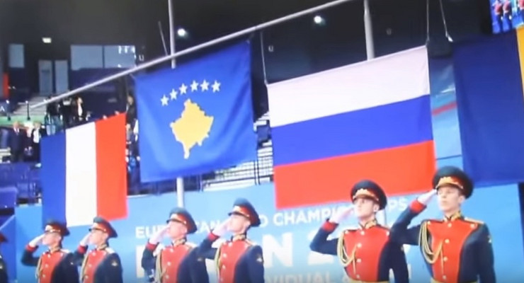 Zastava Kosova u Rusiji