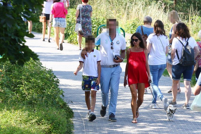 Rodzinny spacer Marty Kaczyńskiej