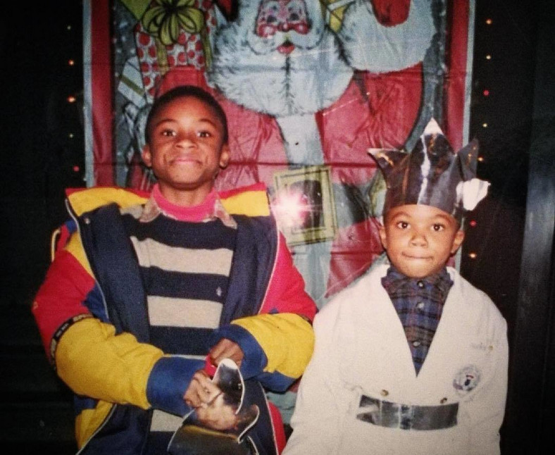 Giannis Antetokounmpo pictured here with his brother Thanasis, was born and brought up in Greece (Instagram/Giannis Antetokounmpo)