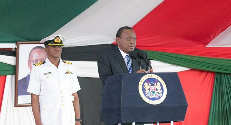 President Uhuru Kenyatta during the National Prayer Breakfast at Safari Park Hotel