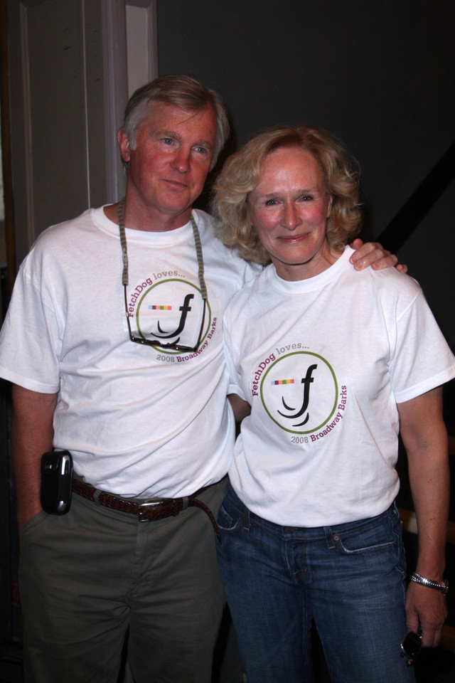David Shaw i Glenn Close (2008 r.)