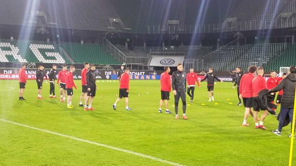 Fudbaleri Srbije na treningu pred meč sa Nemačkom