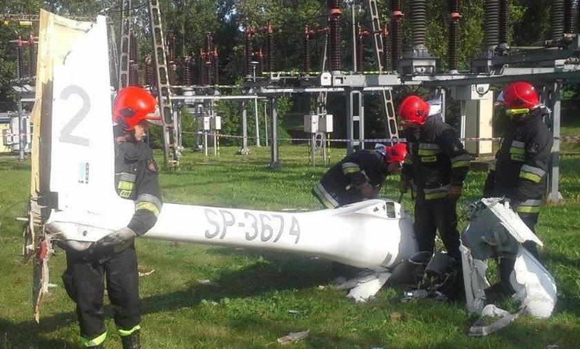 Wypadek szybowca w Pile
