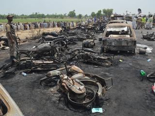 At least 123 people killed in an Oil tanker explosion near Bahawalpur