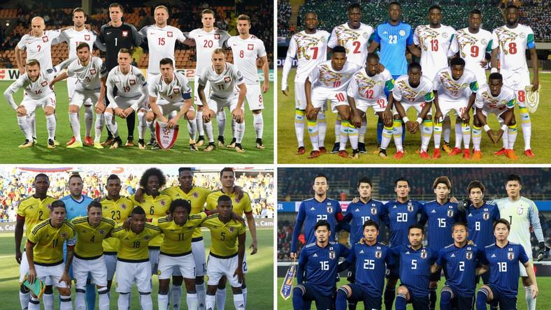 Polska, Kolumbia, Senegal i Japonia