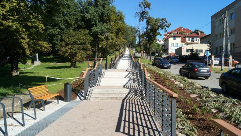 Schody przy ulicy Starodworskiej w Gdańsku liczą sobie 270 metrów długości