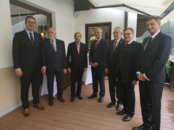 Vučić i Tači sa evropskim i austrijskim zvaničnicima u Alpbahu