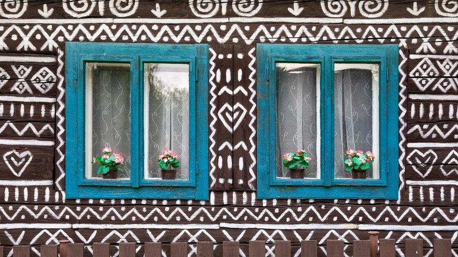 Malowane domy w słowackiej wsi Čičmany