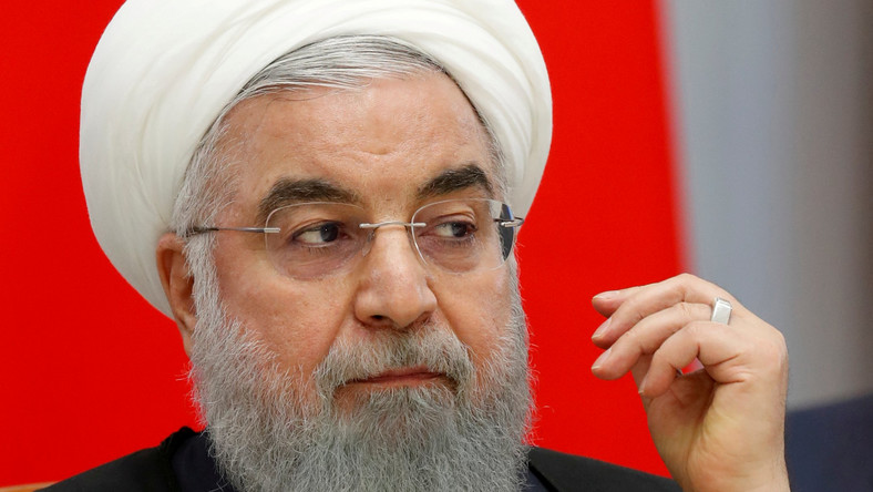 FILE PHOTO: Iranian President Hassan Rouhani attends talks in the Black Sea resort of Sochi, Russia, Feb. 14 2019. Sergei Chirikov/File Photo