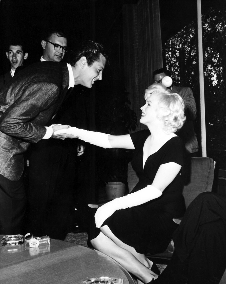 Tony Curtis i Marilyn Monroe