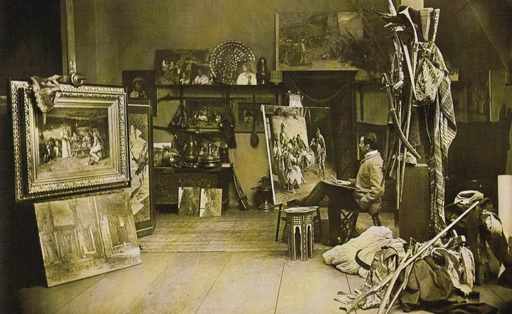 Paja Jovanovic u svom ateljeu
