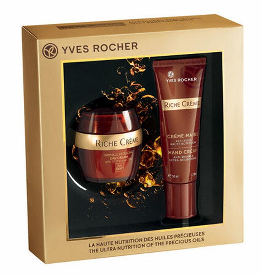 Przeciwzmarszczkowy krem na dzień przywracający komfort + krem do rąk Riche creme, Yves Rocher, 109 pln