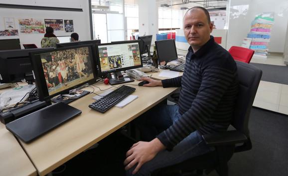 Dušan Milosavljević u našoj redakciji