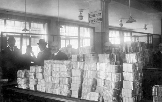Inflacja w Republice Weimarskiej, Reichsbank, Berlin październik 1923 rok