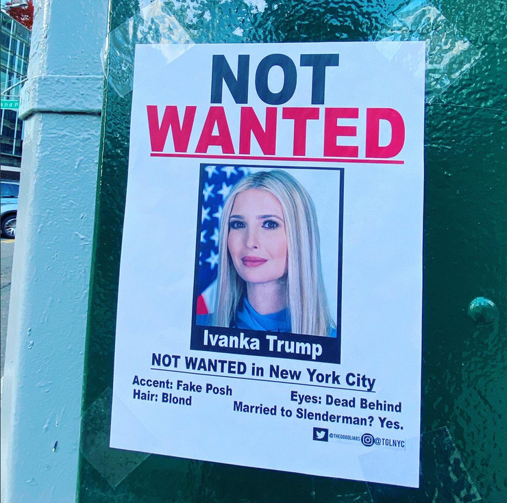 Ivanka Tramp Not wanted