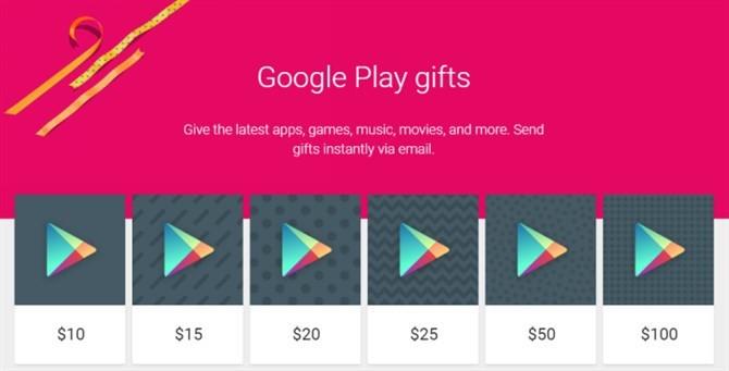 Google Wprowadza W Sklepie Play Karty Podarunkowe Wysylane Droga E Mail