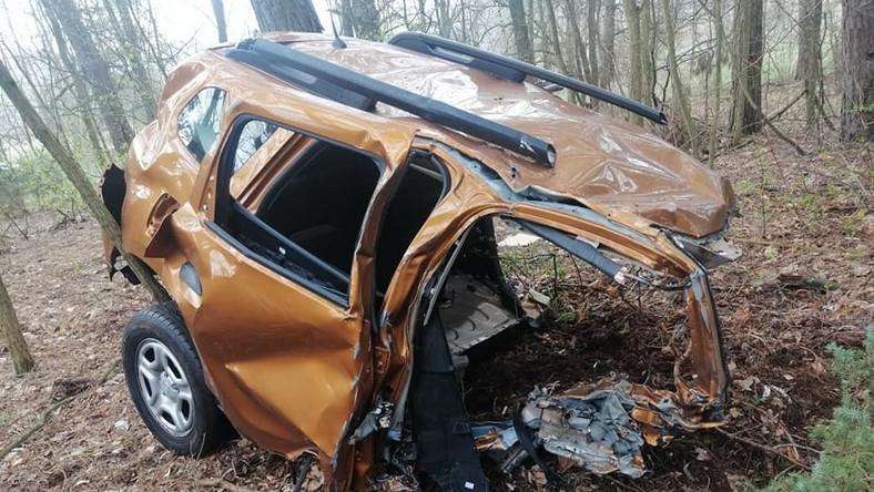 Dacia Duster po wypadku
