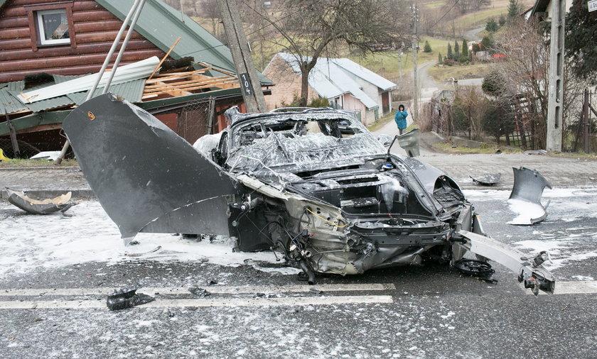 Wypadek w Mszanie Dolnej