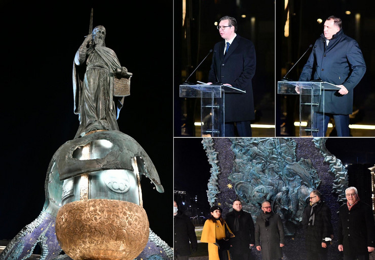 Kombo otvaranje spomenik Stefanu Nemanji Savski trg