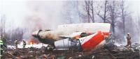 Sobota, 10 kwietnia 2010, Smoleńsk, godz. 8.56. Samolot Tu-154 z prezydentem Lechem Kaczyńskim na pokładzie rozbija się 400 metrów od pasa startowego. Na pokładzie jest 96 osób, w tym najwyżsi urzędnicy państwowi Fot. PAP/EPA