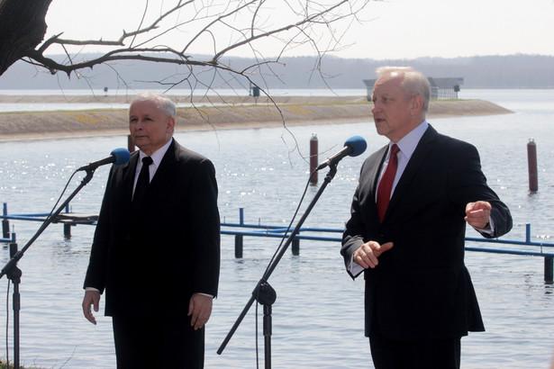 Jarosław Kaczyński i Bolesław Piecha w Rybniku