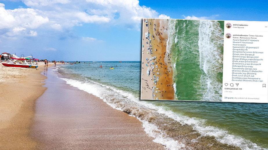 Morze Czarne przybrało zieloną barwę (Fot. Andrei Makovozov/Instagram)