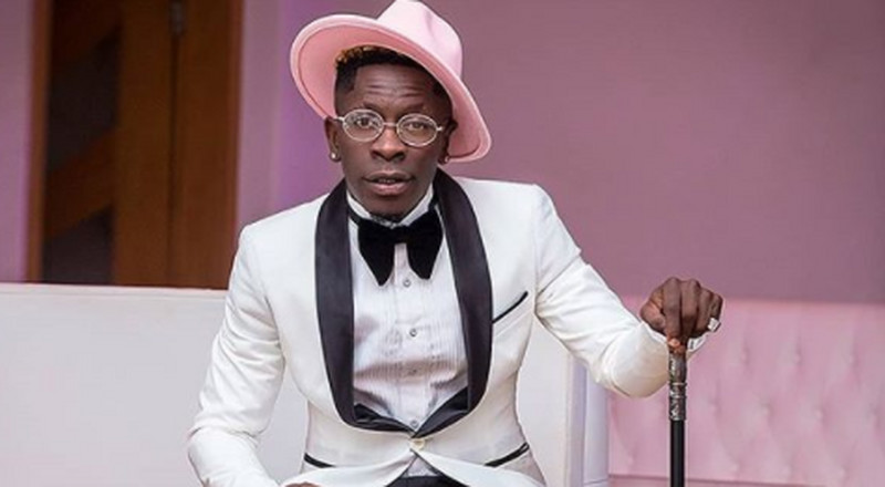 Shatta Wale gave all the birthday vibes with his black and white suit combo