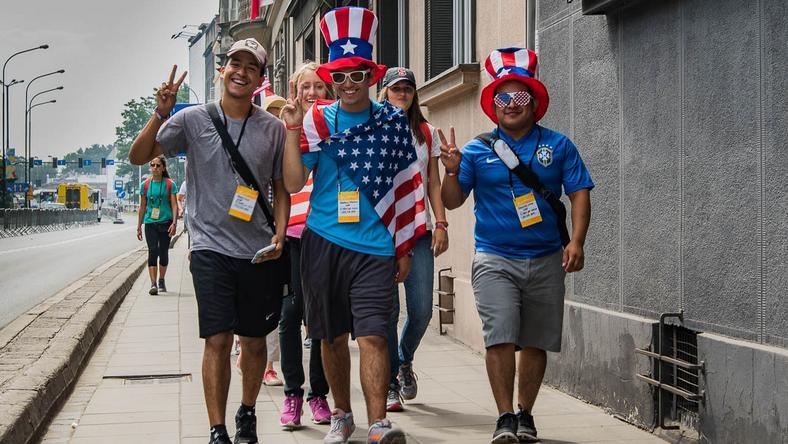 Pielgrzymi z USA podczas Światowych Dni Młodzieży w Krakowie