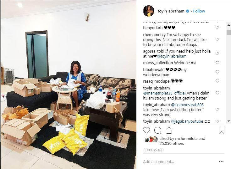 Toyin Aimakhu thanks all fans for their love wants them to know that she is not pregnant [Instagram/ToyinAbraham]