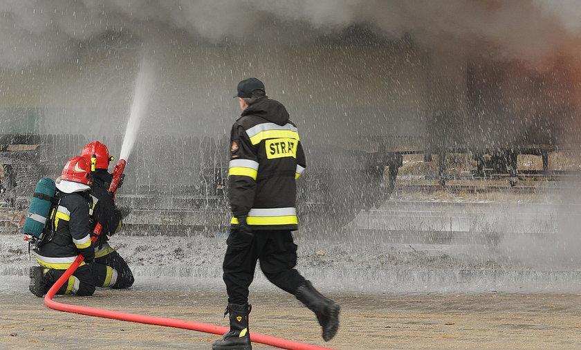 Pożar wagonów w Krakowie