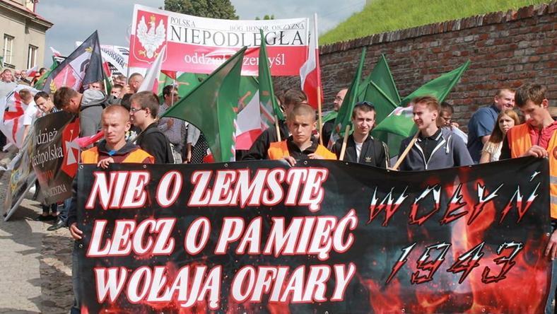 """Marsz Pamięci w Przemyślu - 72. rocznica """"Krwawej Niedzieli"""" na Wołyniu, 11 lipca 2015 r., fot. Skan"""